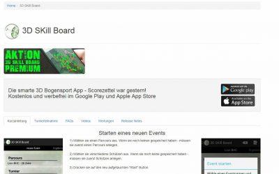 3D Turnier Skillboard – die App für Bogenschützen, Turniere und Vereine