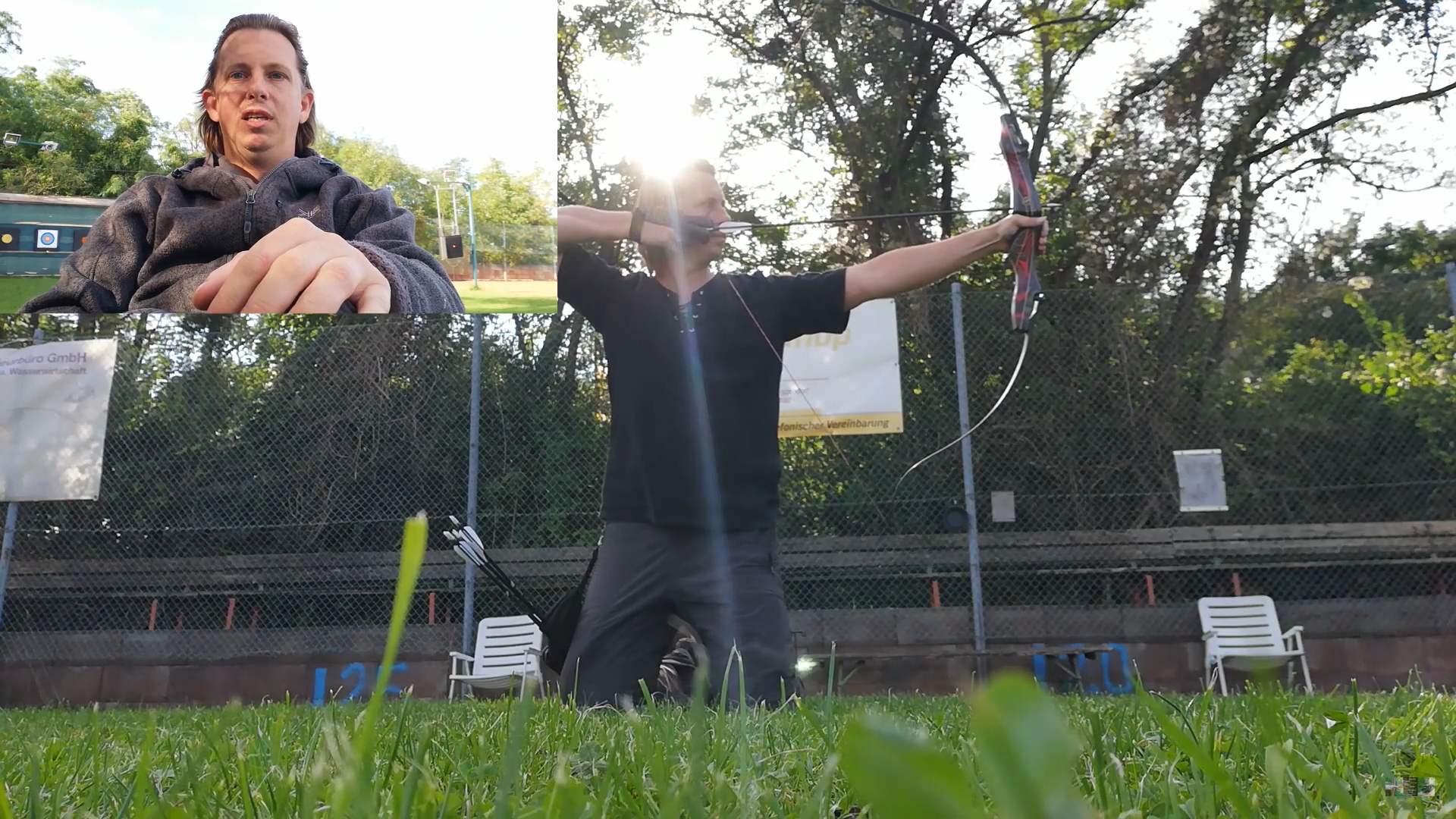 alternative Körperhaltung Bogenschießen