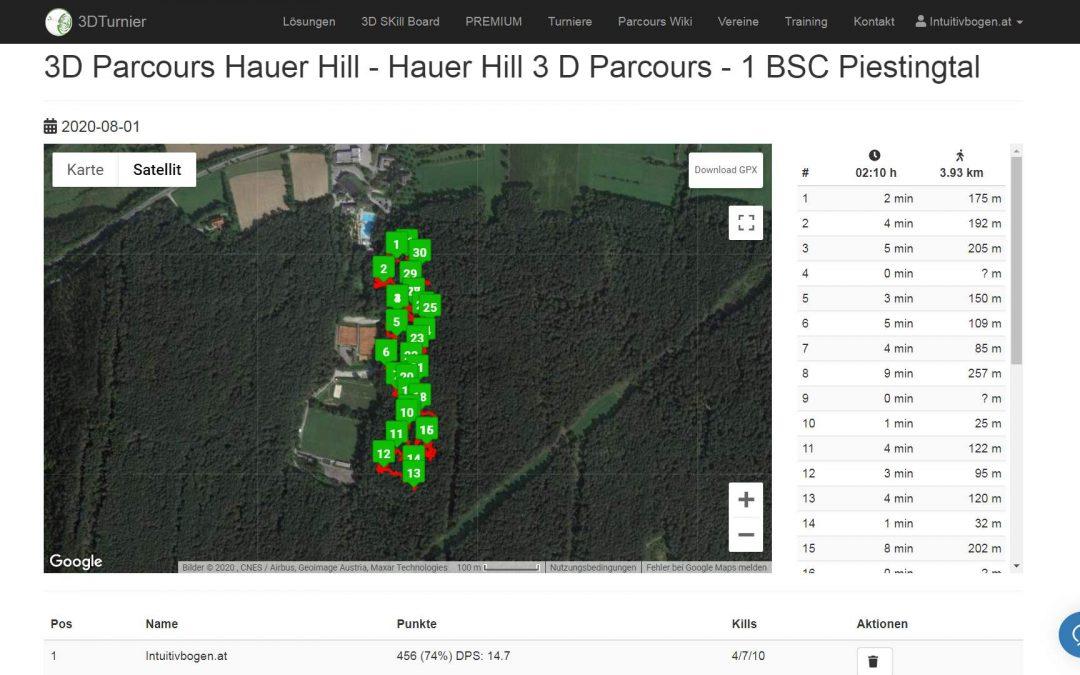 3D Bogenparcours Hauer Hill des BSC Piestingtal