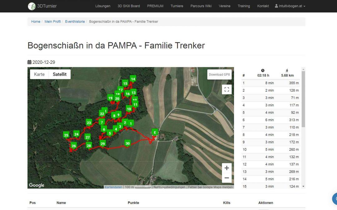 Bogenschießen in der Pampa, Familie Trenker