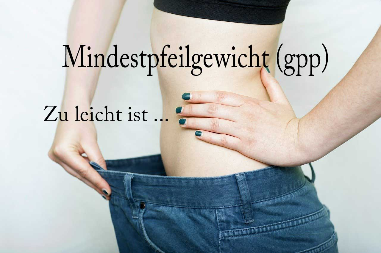 Mindestpfeilgewicht ermitteln